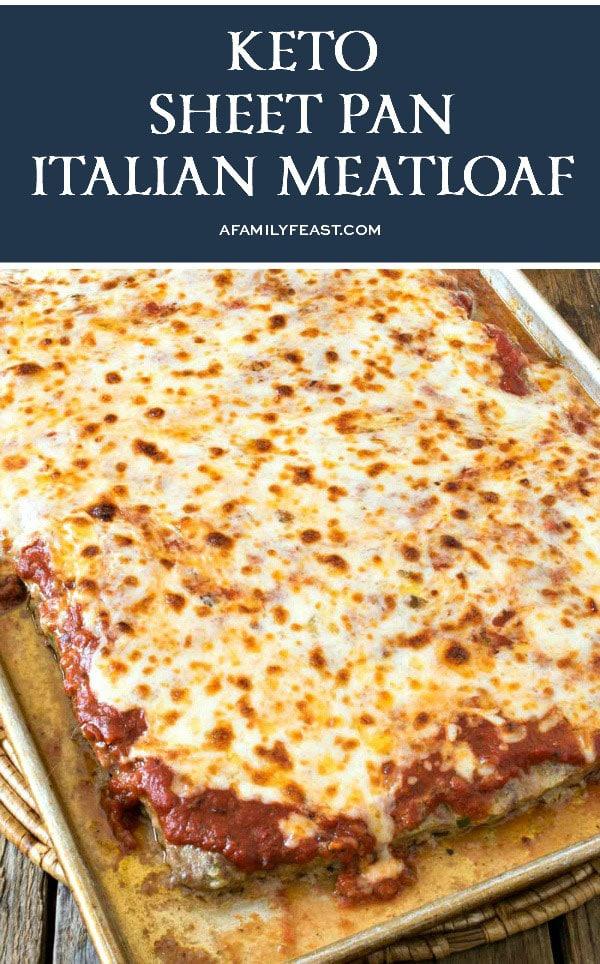 Keto Sheet Pan Italian Meatloaf