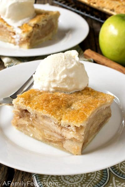 Apple Slab Pie - A Family Feast