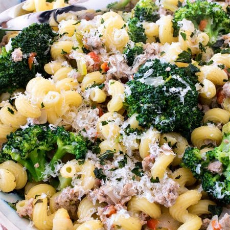 Pasta with Ground Turkey & Broccoli