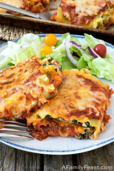 Spinach Lasagna Rollups