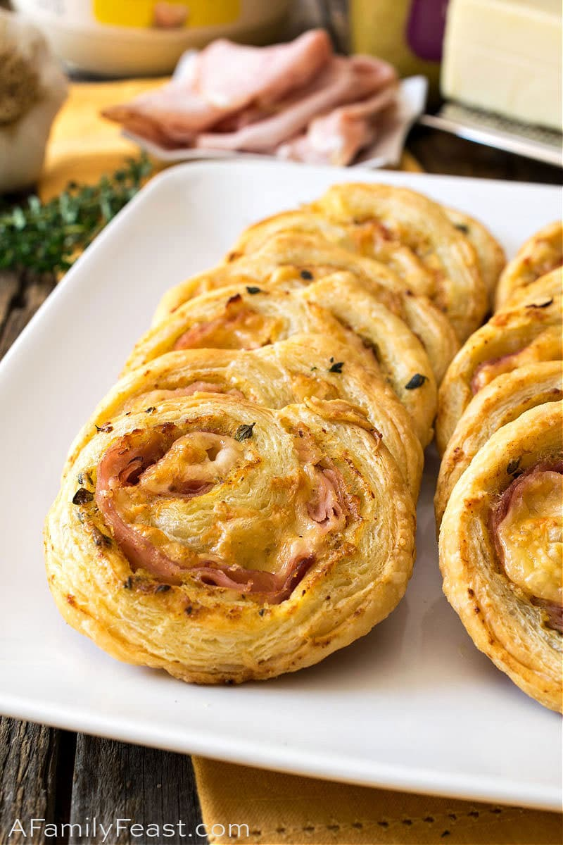 Ham and Cheese Pinwheels