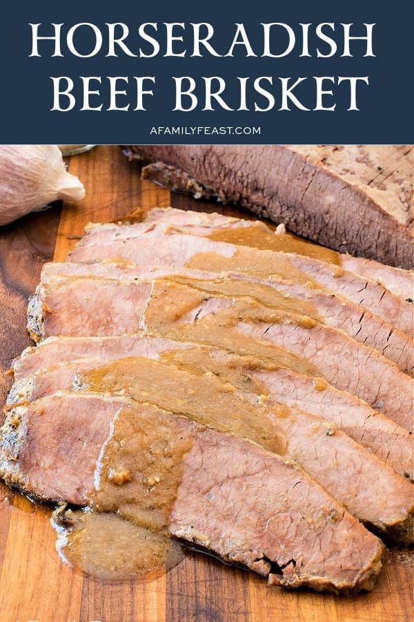 Oven-Roasted Horseradish Beef Brisket
