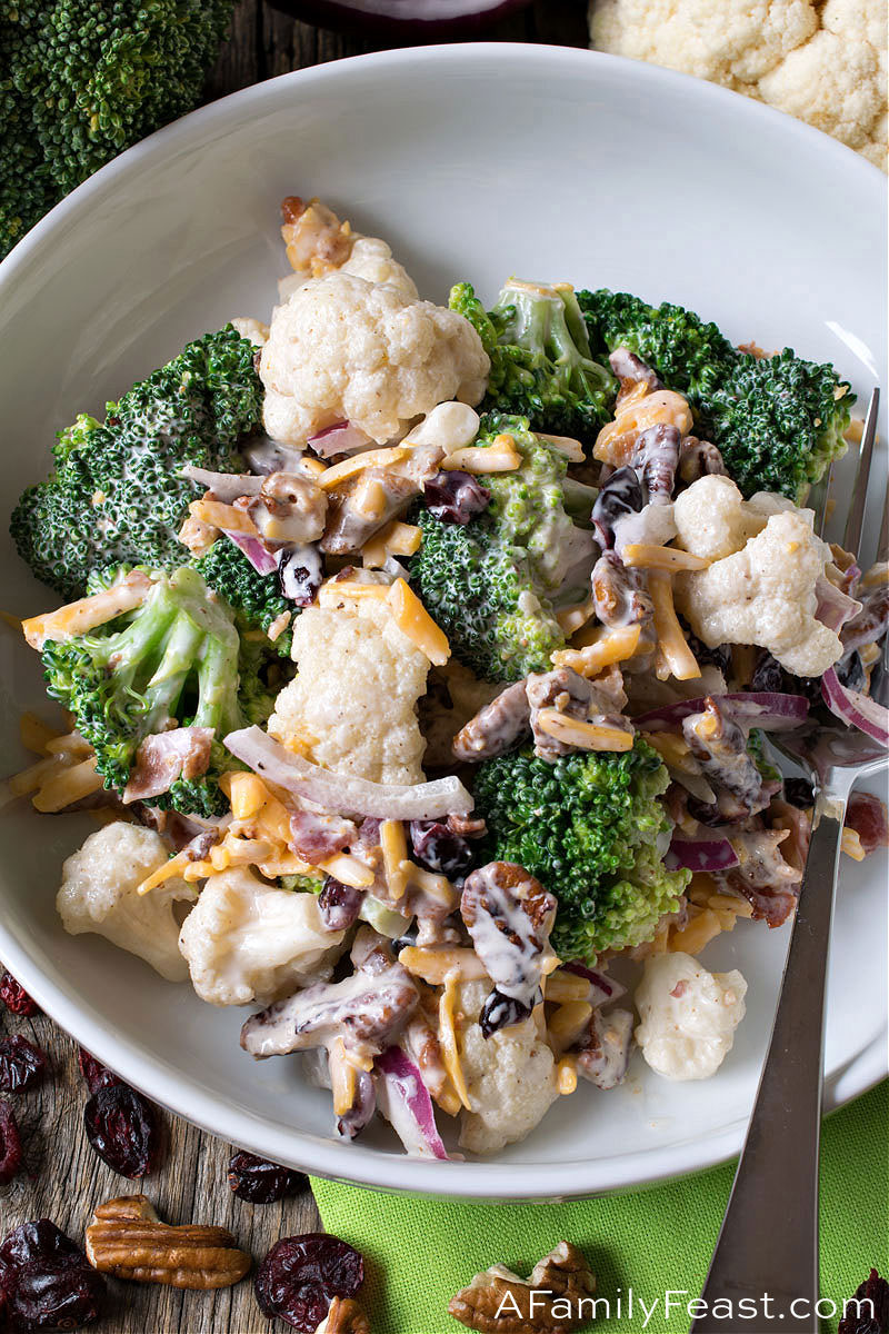 Broccoli Cauliflower Salad A Family Feast