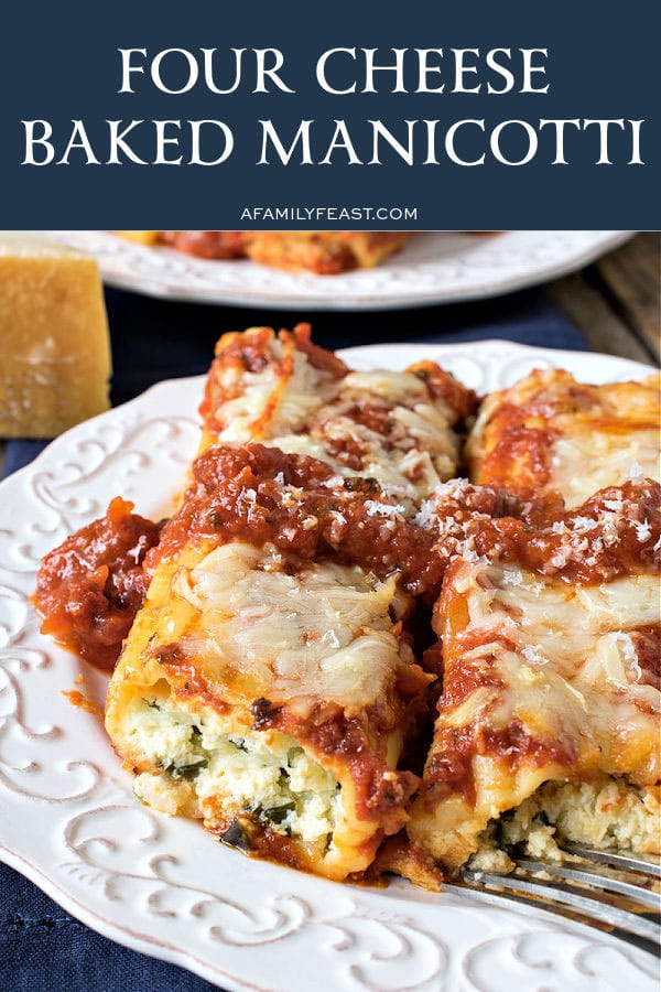 Four Cheese Baked Manicotti