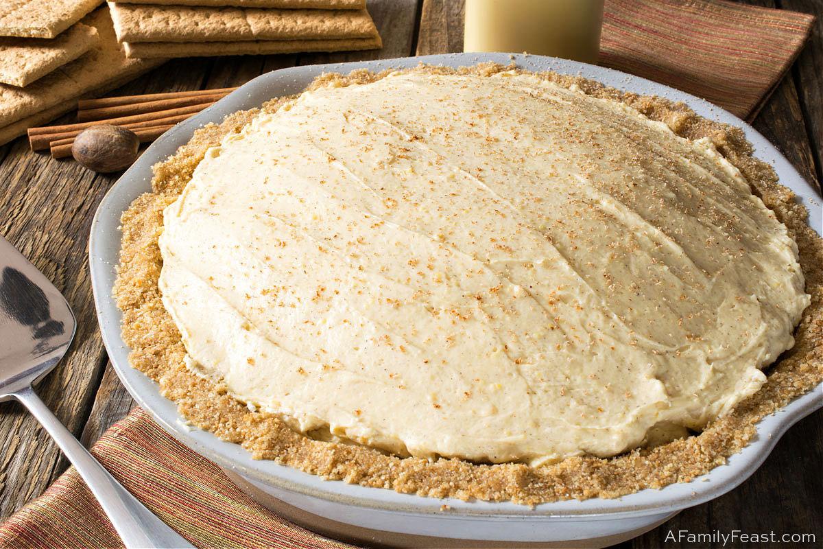 No-Bake Eggnog Cream Pie