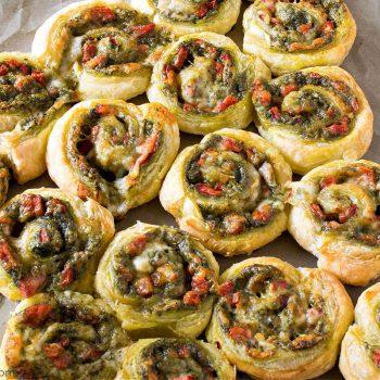 Spinach Pesto Pinwheels