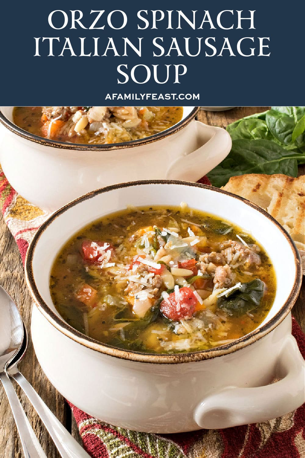 Orzo Spinach Italian Sausage Soup