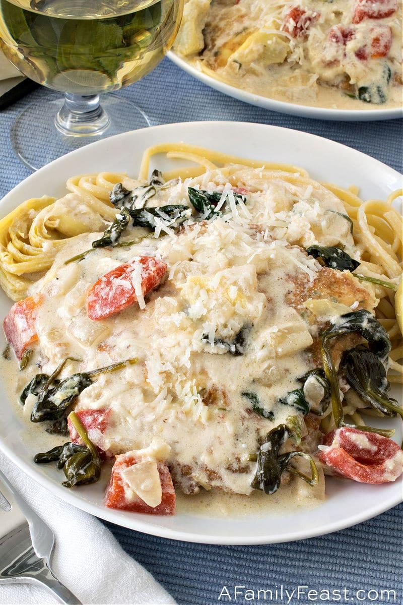 Creamy Chicken with Artichokes & Spinach