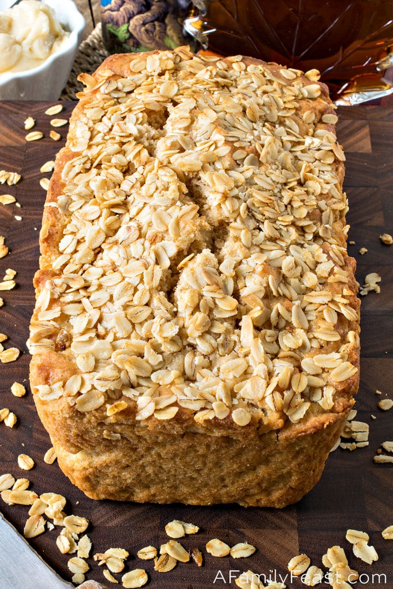 Maple Cider Bread with Salted Maple Butter