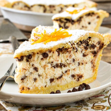 Chocolate Chip Ricotta Pie