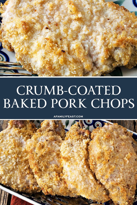 Crumb-Coated Baked Pork Chops