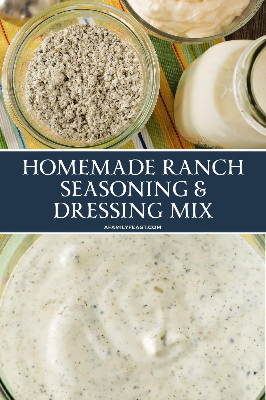 Homemade Ranch Seasoning and Dressing Mix