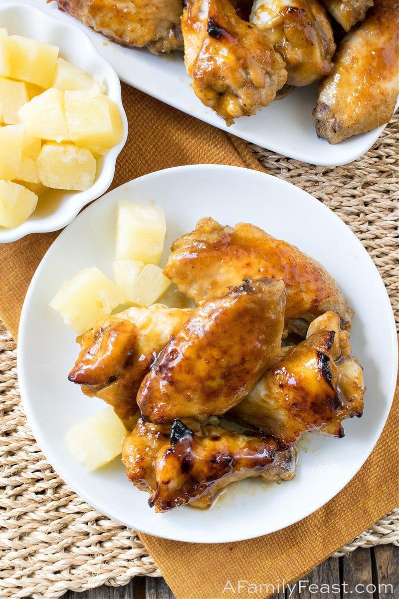 Pineapple Glazed Chicken Wings