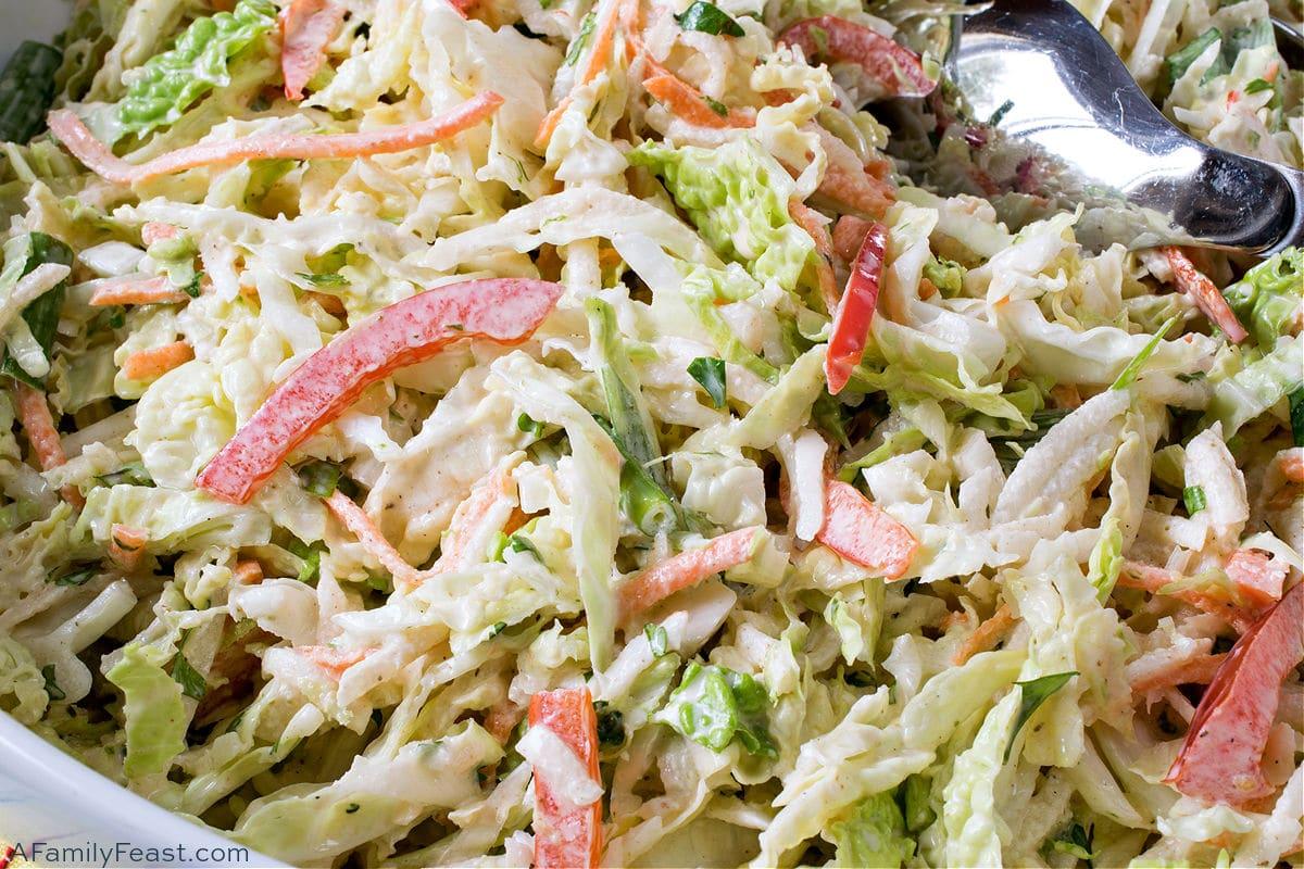 Savoy Cabbage Coleslaw