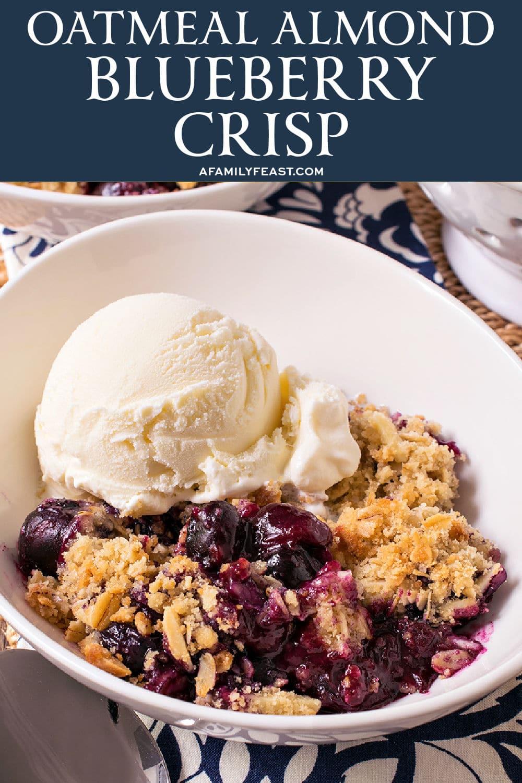 Oatmeal Almond Blueberry Crisp