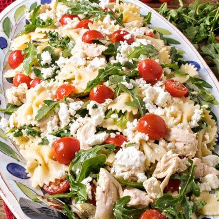 Chicken Pasta Salad with Arugula and Feta