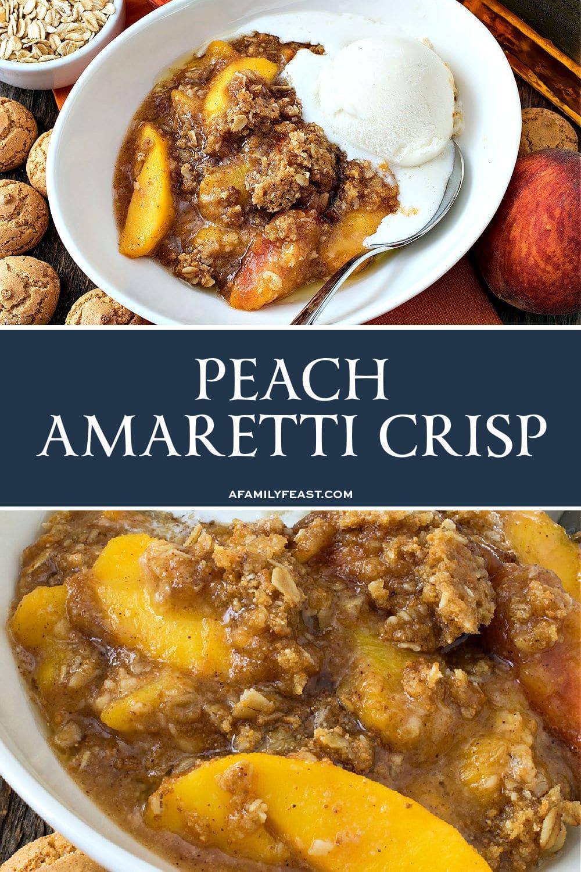 Peach Amaretti Crisp
