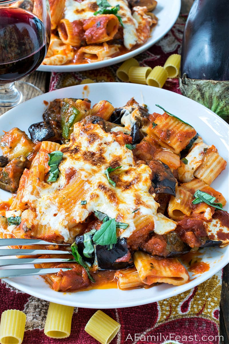 Baked Rigatoni with Roasted Summer Vegetables - A Family Feast