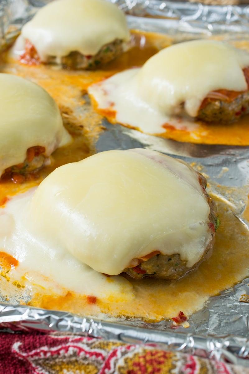 Chicken Parmesan Burgers