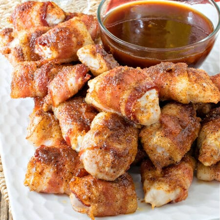 Bacon-Wrapped Chicken Bites