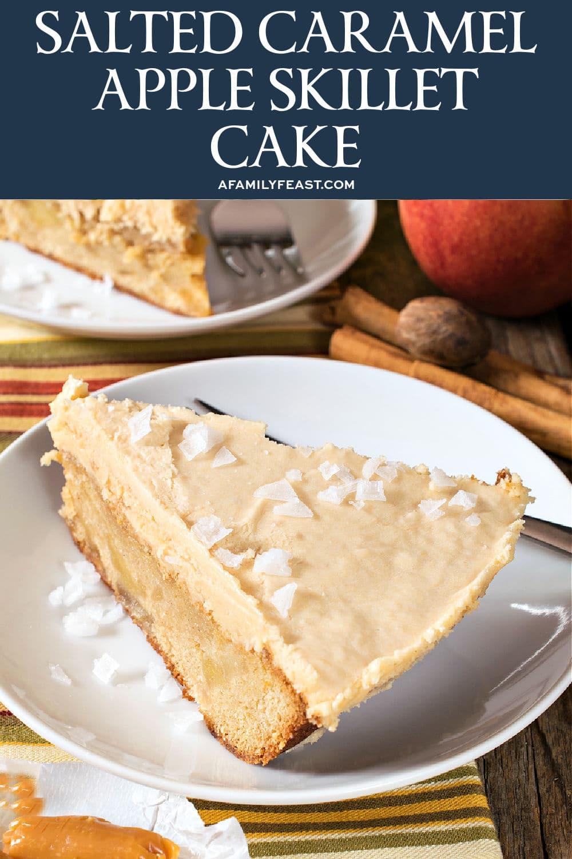 Salted Caramel Apple Skillet Cake