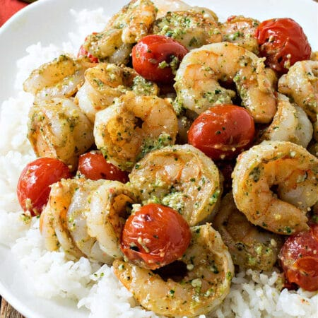 Mexican Pesto Shrimp with Rice