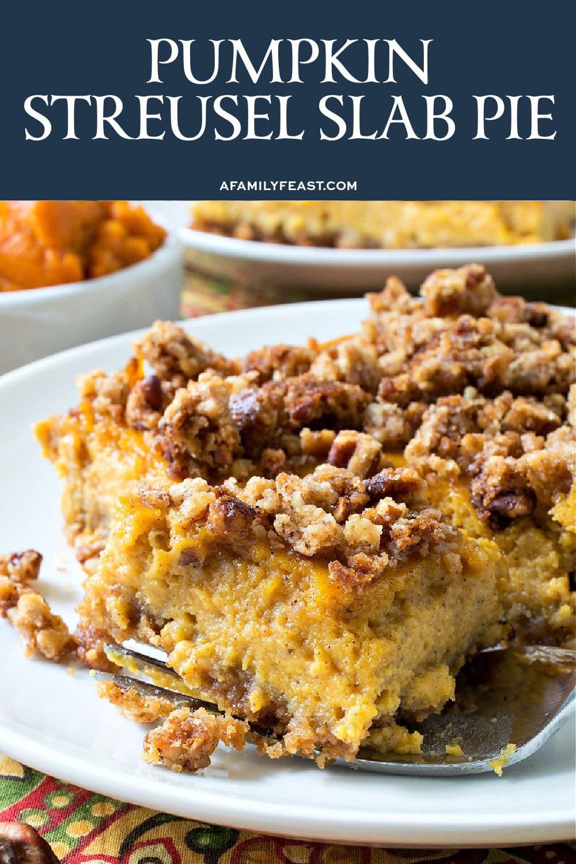 Pumpkin Streusel Slab Pie