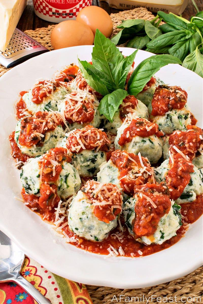 Spinach and Basil Gnudi